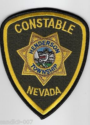 New Henderson Constable Police State of NEVADA NV Shoulder Patch