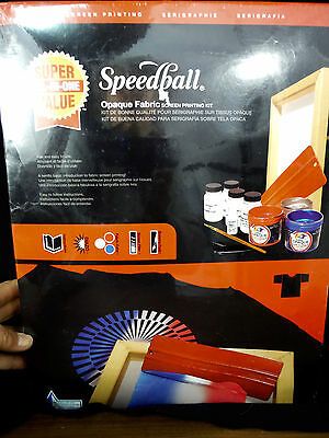 SPEEDBALL Opaque Fabric SCREEN PRINTING KIT All in One NEW IN BOX Dark Fabric