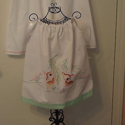 Beautiful Machine Embroidered Pillowcase Dress for 6 months baby to 2T,  NEW