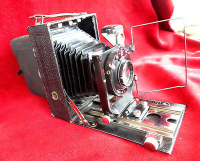 "Russian camera  FOTOKOR  GOMZ  large  format  9X12  with  lens ""Ortagoz"" 4"