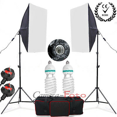 1250W Photo Studio Soft Box Softbox Continuous Lighting Soft Light Stand Kit Set