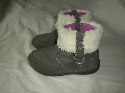 Toddler Surprize Stride Rite Delra Pink Gray Zip Leather Winter Snow Boots 9