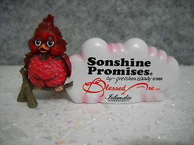 Sonshine Promises Cardinal Blessed Are The Playful Sty#4000 #ed-0895 Nib