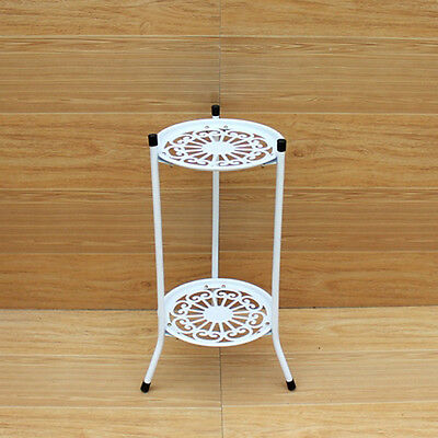 2 group Elegant white Black Metal Plant Stand / Flower Pots Shelf Unit