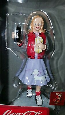 Coca-Cola Town Square Collection-Girl in a Poodle Skirt -NIB