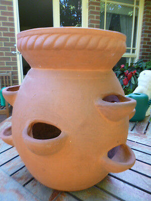 Large Terracotta Pot  For Strawberries - Excellent Condition