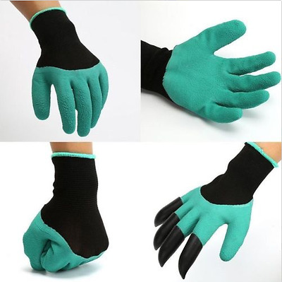 Garden Gloves for Digging & Planting with 4 ABS Plastic Claws gardening gloves