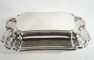 Wm ROGERS & SON SILVER Plate HANDLED COVERED Entree DISH