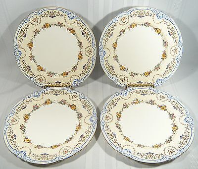 4 MINTON China DINNER PLATES 10 1/2 inch  OXFORD Pattern S71