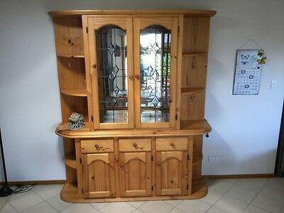 Two Piece Pine Buffet and Hutch