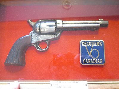 SEAGRAM'S 7 1873 .45 Peacemaker Sign Shadowbox, NO RESERVE!!