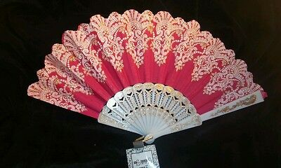 New Spanish Style Church*Dance Party *Wedding PINK Folding Hand Held Fan