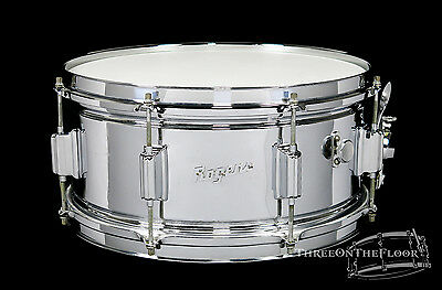 1964 Rogers Chrome / Brass Powertone Snare :  6.5 x 14 : Vintage Cleveland Era