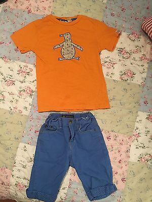 Boys Spring/Summer Clothes (Lot of 2) Guess Shorts and Penguin Tee Shirt Sz 6
