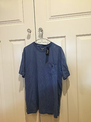 Polo Ralph Lauren Tee Shirt Denin Blue Size L Men's New With Tags Large