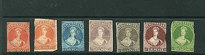 Simplified Imperf Chalon 1' - 1/- mint budget set