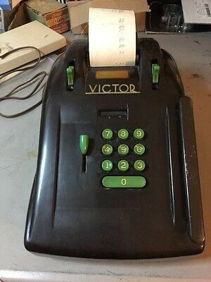 Vintage VICTOR Electric Adding Machine #S93 Working With Cord Paper And Ink