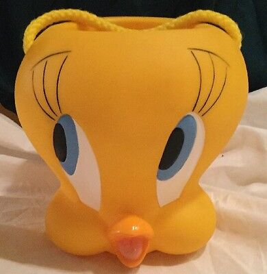 Warner Bros. Applause Looney Tunes TWEETY BIRD Plastic Bucket Pail w/Handle 1997
