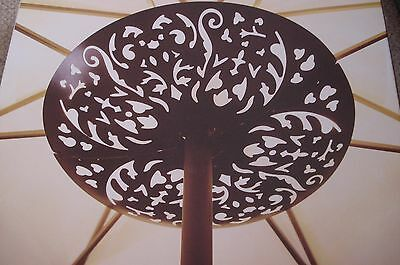 Jacklyn Smith LED Battery Operated Umbrella Light Exotic Metal Art Deco Style