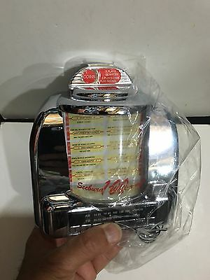 VINTAGE NOVELTY OMEGA JUKE BOX RADIO FM-AM(MW)- BAND FROM THE 1970s-1990WITH BOX