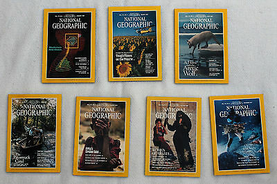 National Geographic 1987; January, March, May, June, August, October & December