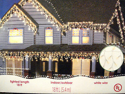 Holiday Time 300-Count Icicle Christmas Wedding Lights, Clear White Wire New