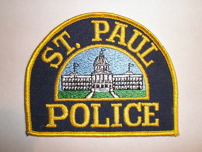 Minnesota St Paul police patch MN capital city Large Jacket issue