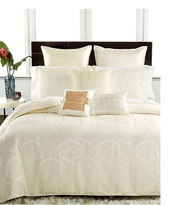 Hotel Collection Verve Ivory Silver Embroidered Euro Sham $130