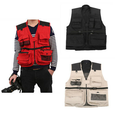Fly Fishing Vest Men's Multifunction Pockets Travels Sports Outdoor Jacket