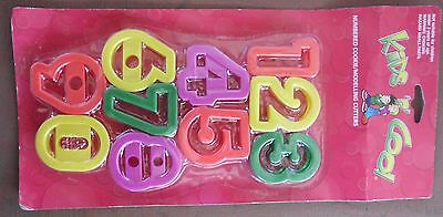 NUMBER PLAY-DOH CUTTERS SET 1,2,3,4,5,6,7,8,9,0 (Fondant / Cookie / Cake) Doughh