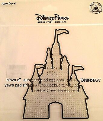 DISNEY Castle with Crystal Jewels AUTO WINDOW DECAL / STICKER / CLING New