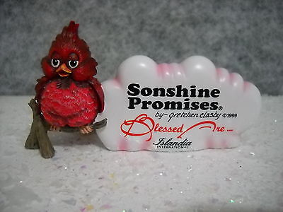 Sonshine Promises Cardinal Blessed Are The Playful Sty#4000 #ed-0859 Nib