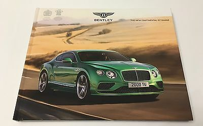 2015 Bentley New Continental GT Range VIP Brochure GT GTC V8 W12 Speed Models