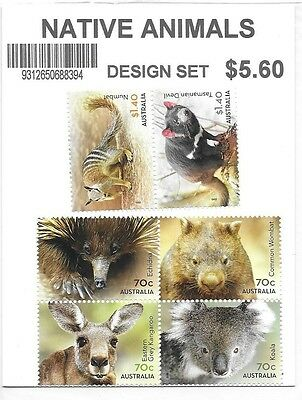 2015 Native Animals Set of 4 x 70c & 2 x $1.40 Stamps