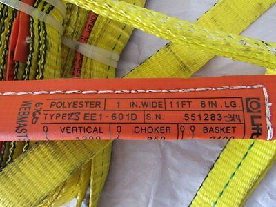 Lot of 8 Polyester Lifting Sling / Tow Strap 11ft long