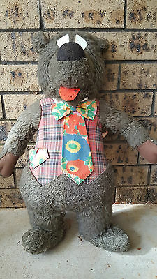 Large Vintage Humphrey B Bear - 1975 -  62cm tall - missing his hat