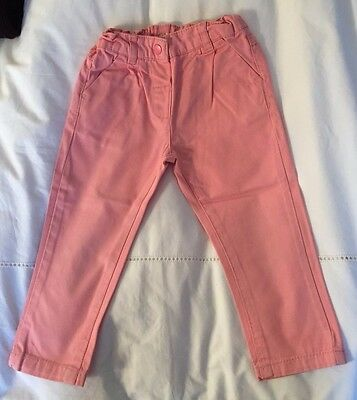 Baby Girl pink jean with elastic waist - 18M - Bout'Chou Paris