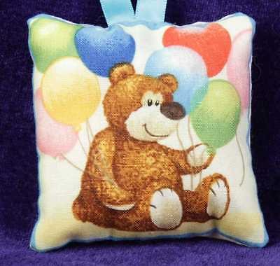 Mini Scented Cushion featuring brown bear Teddy  any ocassion gift design 8