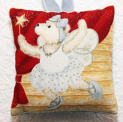 Mini Scented Cushion featuring brown bear Teddy  any ocassion gift design 16