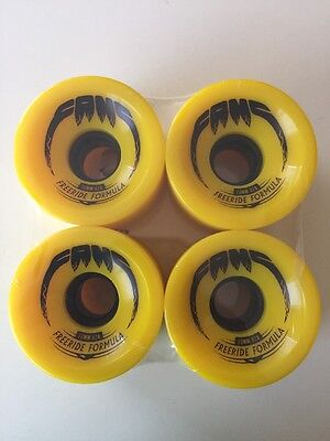 Fang Longboard / Cruiser Skateboard Wheels 70mm 82A (yellow)