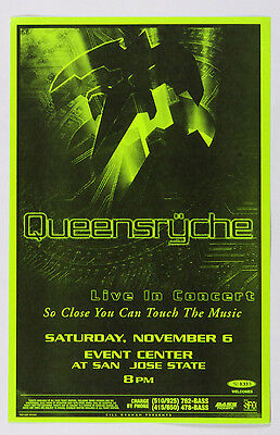 Queensryche Poster Live in Concert 1999 Nov 6 Event Center San Jose
