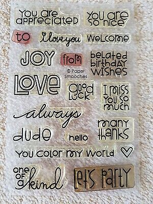 """PAPER SMOOCHES """"Sentiments"""" stamp set"""