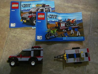 Lego City 4433 Dirt Bike Transporter - Incomplete but with Booklet