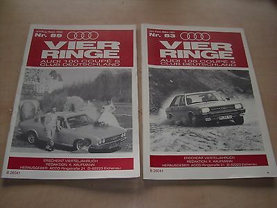 Vier Ringe Audi 100 Coupe S Club Zeitschrift 4 ACCD 1998 1997 89 83 Clubzeitung
