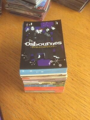 Lot Of 142 The Osbournes Trading Cards