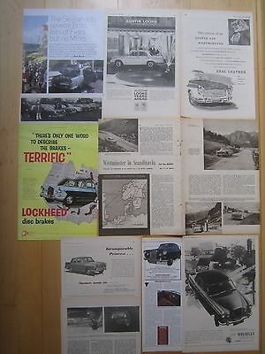 Austin Westminster A99 & A105 Wolseley 6/99 & 6/110 Princess 4.0 Reports/Adverts