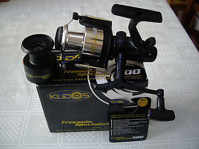 New Kudos Freespool Specialist 500 Fishing Reel (Includes Spare Spool)