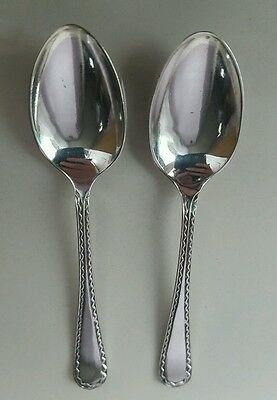 2 silver spoons