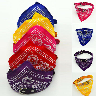 Dog Neck Scarf Bandana With Collar - Adjustable Cat Pet Puppy Neckerchief