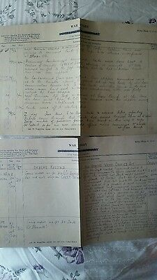 Copy Of Ww1 Somme War Diary 4X Sides, 4Th Battalion Tank Corps Build Up To Attac